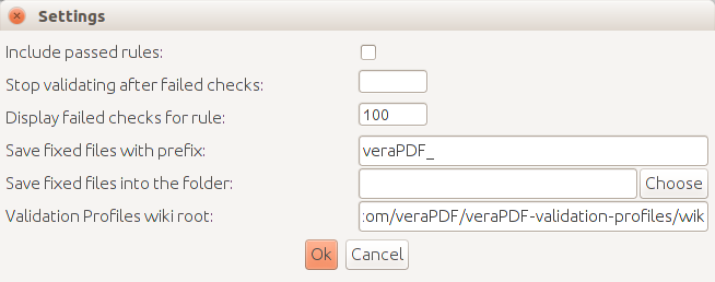 veraPDF GUI settings